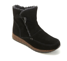 Sporto Grain Suede Toggle Bootie in Black, 8M