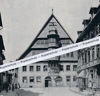 Osterode am Harz - Rathaus - Ansicht der Stadt - um 1920 - selten!       M 21-10