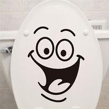 Negro Extraíble Sonrisa Cara Baño Closestool Pegatinas de Pared Calcomanía