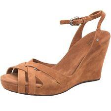 UGG Australia Womens Violet Wedge Sandals Chestnut Size US 11 /EUR 42/UK 9.5~NEW