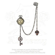 Alchemy - Uncle Alberts Timepiece - Pewter Stud Earring / Chained Cuff