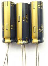 3300uf 16v 105c baja ESR Tamaño 35mmx12.5 mm Larga Vida Panasonic eeufc1c332 X3pcs