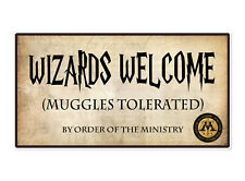 Coco&Bo - Muggles Tolerated Welcome Poster Sign - Harry Potter Inspired Party