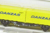 N Containertragwagen DB Danzas Minitrix 15609 KKK NEU OVP