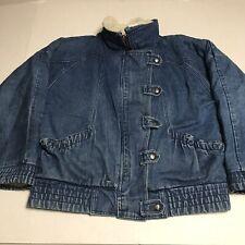 Vintage 80s Sherpa Lined Denim Jean Jacket Size M