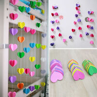 Hanging Paper 3D Heart Garland Birthday Party Wedding Ceiling Banner Decor Z0HWC