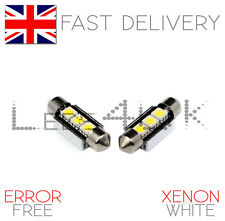 BMW E46 Coupe & M3 Xenon White LED 36mm Number Plate Lights Bulbs - Error Free