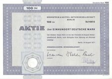 O & K Orenstein & acoplamiento AG 100dm Berlin 1971