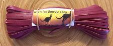 """Kangaroo Leather Lace ROSE/CERISE Kangaroo Leather Lacing 3mm 1/8"""" 10m PERFECT"""
