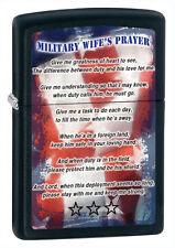 "Zippo ""Military Wife's Prayer"" Black Matt Lighter, 28315, +Wick +Flints"