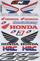 1x Decals Wings Honda Logo Racing Stickers Sheet Emblem Motorcycle Racing S46