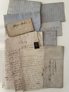 1840s, 1860s Antique Handwritten family letters New Jersey LOT