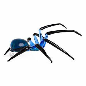 "Glass Spider Figurine - Handmade Hand Blown Art Glass Insects Animal 3.5"""