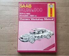 SAAB 90 99 & 900 HAYNES MANUAL 1979 to 1985 TURBO 16V COMBI COUPE HATCHBACK