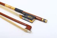 Yinfente Violin Bow 4/4 Full Size Advance Bow Hair Brazil Wood Ebony Frog