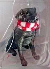 Sandicast Chocolate Labrador Retriever Christmas ornament red white scarf