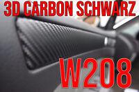 Mercedes Benz CLK W208 3D CARBON SCHWARZ ZIERLEISTEN FOLIEN SET