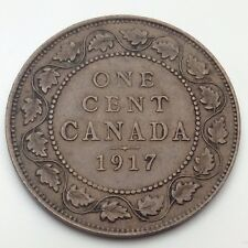 1917 Canada Copper One Cent Penny Circulated Canadian Coin C771