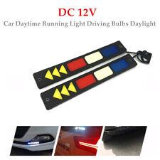 2PCS DRL LED Car Daytime Running Light Driving Bulbs Daylight Strip Fog Lamp Set