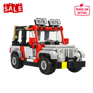Building Block Educational Toy Gift Jurassic Park Staff SUV MOC-25926 DIY Brick