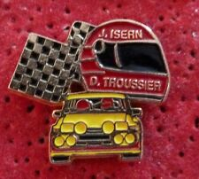 PIN'S VOITURE RENAULT 5 TURBO R5 RALLYE CASQUE PILOTE J. ISERN D. TROUSSIER