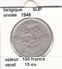 FB )pieces de 100 francs albert I 1948 belgique