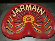 JARMAIN HASLEY  VINTAGE CAST IRON TRACTOR IMPLEMENT SEAT COLLECTIBLES
