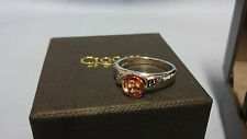 Welsh Clogau Silver & Rose Gold Royal Roses Ring Size J RRP £139