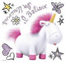 Despicable Me 3 I Believe In Unicorns Wall Decals Room Decor Stickers Glittery