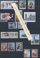 2020 Vatican, Year Complete 20 Val +6 Bf +1 Booklet Santo Natale, Fr