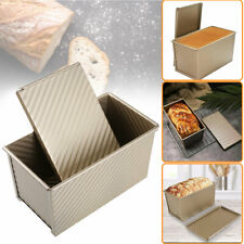 Toast Box Bread Loaf Pan Cakes Baking Mold with Lid Non-stick Metal Mold Tray Us