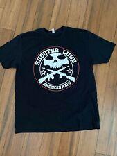 Men's 2XL Shooter Lube Military Tactical Skull Black T Shirt - NWOT