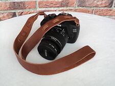 cuir DSLR appareil photo Lanière de transport bandoulière Marron Camera Strap
