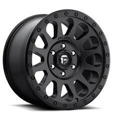 """4-rims Off Road 17"""" Fuel Wheels D579 Vector Matte Black Rims"""
