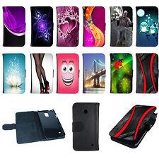 Book Tasche für Samsung Galaxy Handy Flip Case Cover Hülle Etui Design Motiv