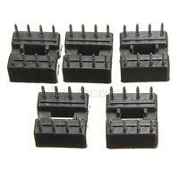 5Pcs 8 Pins IC Sockets DIP/DIL Sockets Adaptor Solder Type 2.54mm Pack Standard