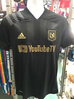 Adidas LAFC Home 2020 Soccer Jersey Black And Gold  Stadium Size XL Men's Only
