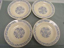 Vintage Oxford Dinner Ware (Brazil) OX5 Lot of 4 Rimmed Soup Bowls GUC