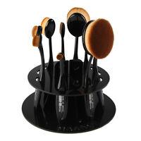10pcs Toothbrush Oval Make up Brushes Set Dryer Organizer Holder Stand LS