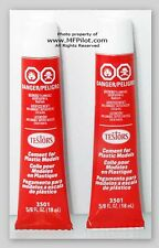CEMENT for PLASTIC MODELS - Testors Classic Tube Cement #3501 2-PACK - NEW