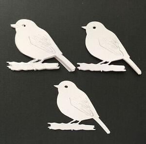 Robin, Cardinal, Bird, Nature die cuts x 12......55 x 70 mm 216 gsm cardstock
