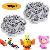 700 Googly Eyes SELF ADHESIVE New Google Wiggly Eye Craft Embellishments Mixed^^