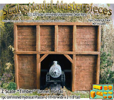 "Z Scale ""Timber"" Tunnel Portal Scale Model Masterpieces 1;220 *NEW PRODUCT*"
