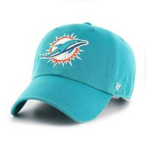 Miami Dolphins 47 Brand Clean Up Adjustable On Field Cotton Hat Cap NFL