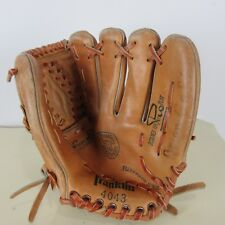 "Vintage Franklin 11"" BACKHANDER RHT 4043 Leather Baseball Glove Pro Play"