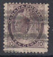 "Canada Scott #83  10 cent brown violet  ""QV Numeral""   F"