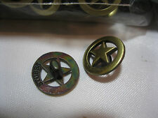 NEW (500 Pieces) Golden Star Metal Buttons made for Western Shirts