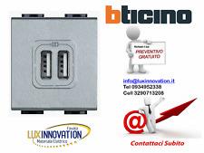 PRESA 2 USB CARICABATTERIA 5V DC ALIM 230V TECH BTICINO AXOLUTE HC4285C2