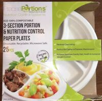 Precise Portions Nutrition Healthy Portion Control Plates 25 Plates