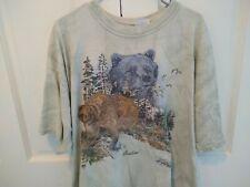Yellowstone National Park Grizzly Bear Men's Green T-Shirt Size XXL